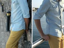 Cómo combinar camisa denim