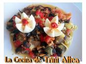 Pisto verduras horno huevos cocidos