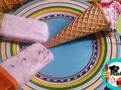 Helados cerezas yogurt