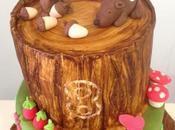 Tarta animalitos bosque, cómo hacer tarta efecto árbol