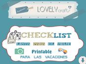 Lista viaje. Checklist. Imprimible para organizar vacaciones