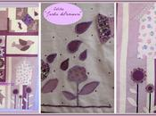 "Colcha patchwork Jardín primavera"""