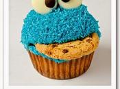 Receta pair: Cookie Monster cupcakes