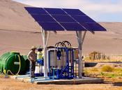 Tecnología elaborada energía solar entrega agua potable comunidades aisladas