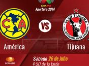 Trasmisión vivo América Xolos Tijuana Futbol Mexicano