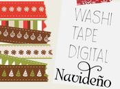 Washi tape digital navideño
