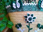Bolso mimbre flor doble petalo