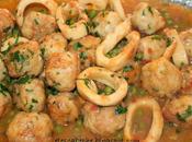 Albóndigas pescado calamares