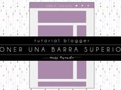 Tutorial Blogger: Poner barra arriba todo blog