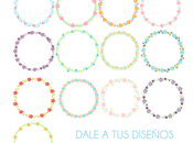 Freebies: Clip arts flores plantillas para hacer moodboards descargar