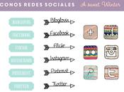 Domingos Molones Freebies: Blog Sweet Winter iconos redes sociales