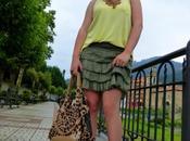 Minifalda verde kaki