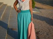 Outfit Long Turquoise Skirt
