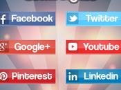 """Social Square"" Pack botones sociales"