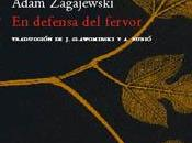 defensa fervor, adam zagajewski