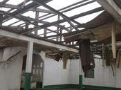 Bangui. mezquita destruida