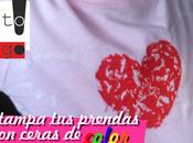 Decora ropa estampando cera color (crayones)