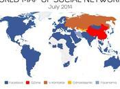 Facebook popular países Mapa Mundial Redes Sociales
