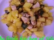 Lomo patatas calabacin