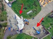 halcón milenario x-wing desde rodaje stars wars: episodio