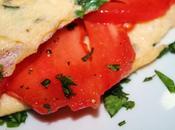 Crepes tortilla albahaca rellenos tomate fresco