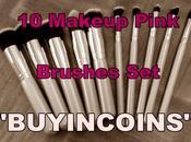 "Makeup Pink Brushes ""Buyincoins"""
