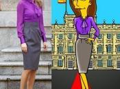 Reina Letizia icono moda estilo Simpson