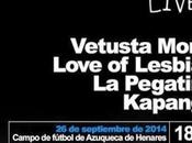 Azuqueca Live!: Vetusta Morla, Love Lesbian, Pegatina....