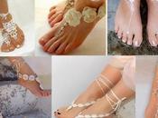 Sandalias adornos para pies novia