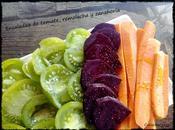 Ensalada tomate, remolacha zanahoria