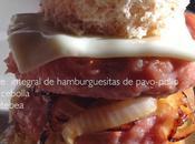 Torre integral hamburguesitas pavo-pollo cebolla