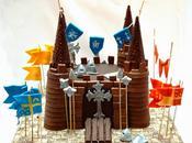 Tarta chocolate castillo medieval