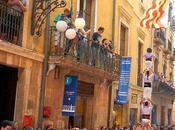 Baixada pilars caminant. Tarragona. Fiestas Santa Tecla 2014