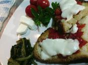 tomate mozzarella horno Pane raffermo forno