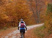 Montar bicicleta otoño