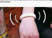 Crean pulsera avisa Facebook estás borracho