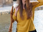 Mustard v-neck sweater