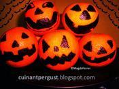 Mandarinas como decoración Halloween comestible