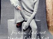 Fashion editorial: neutral colors knit