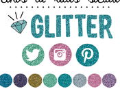 Freebies: Iconos redes sociales glitter