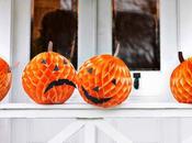 Decoración para halloween pompones pompón papel seda formato nido abeja