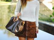Camel skirt.
