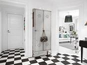 Apartamento nordico blanco negro apartment black white