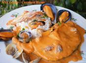 Lomos merluza pincho salsa crustáceos