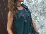 Collar Seda Pendientes Turquesas