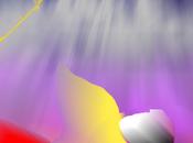 Nube radiantebrilla cuerdade cometa