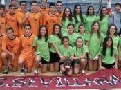 Sevilla Campeón Andalucia Balonmano, categoría masculina subcampeonas féminas