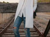 Abrigo blanco Boyfriend jeans