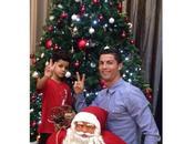Cristiano Ronaldo comienza celebrar Navidad junto hijo