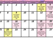 Calendario Julio
